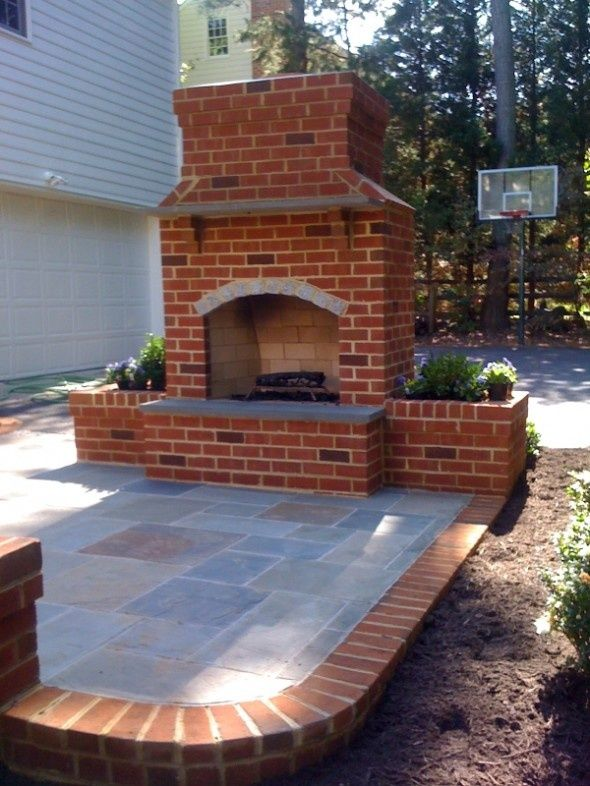 I Love Outdoor Fireplaces Cute Idea To Go With The