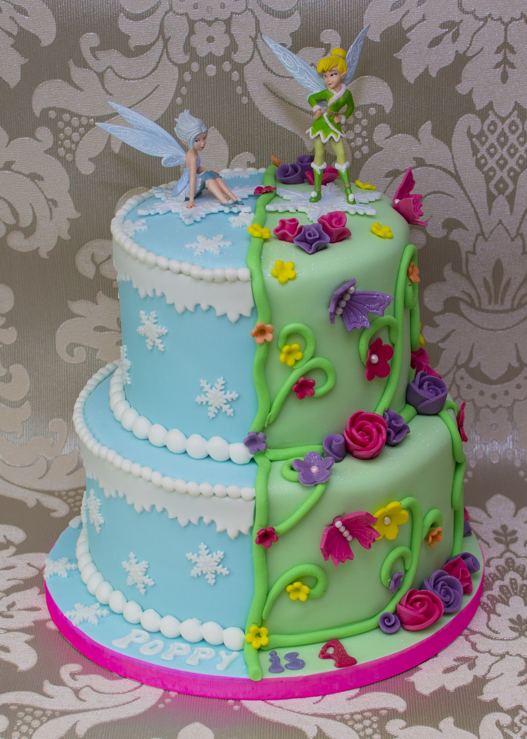 Tinkerbell And Periwinkle Cake