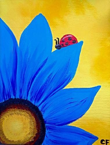 Paint Night Paintings Flower Google Search