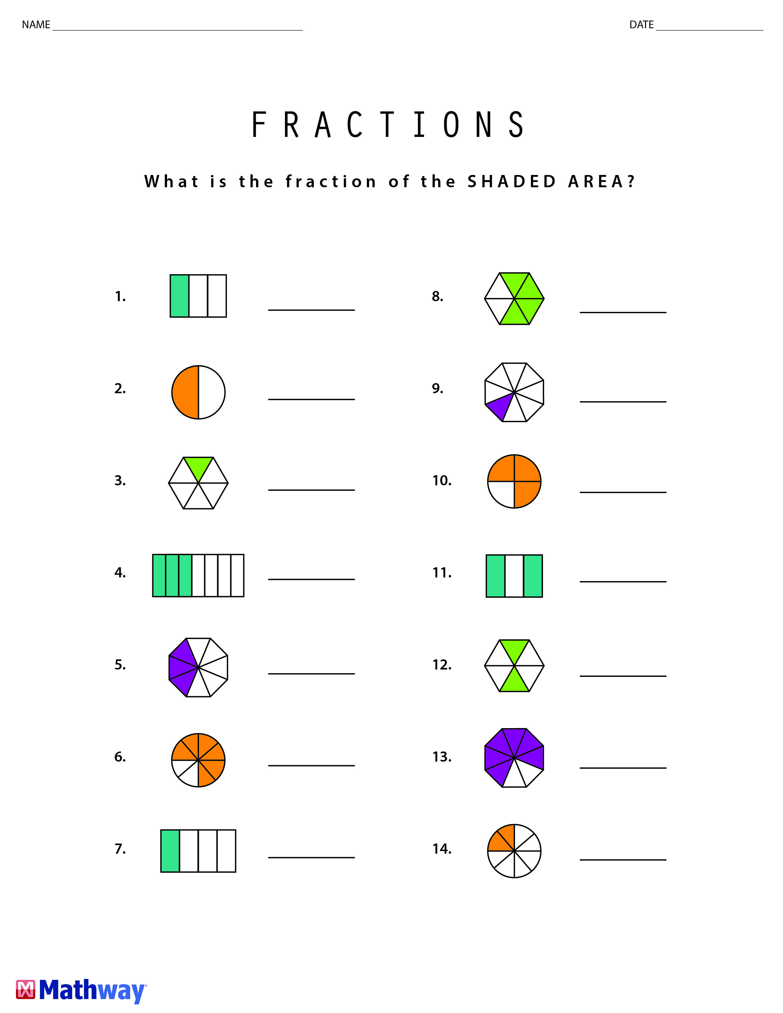 Learning Fractions Print Out This Worksheet Follow Our