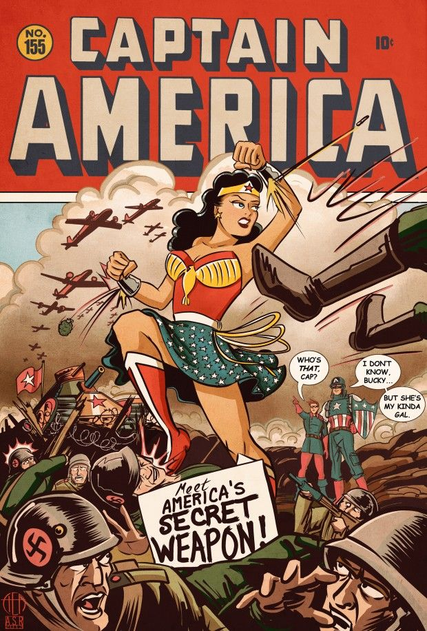 Image result for wonder woman second world war