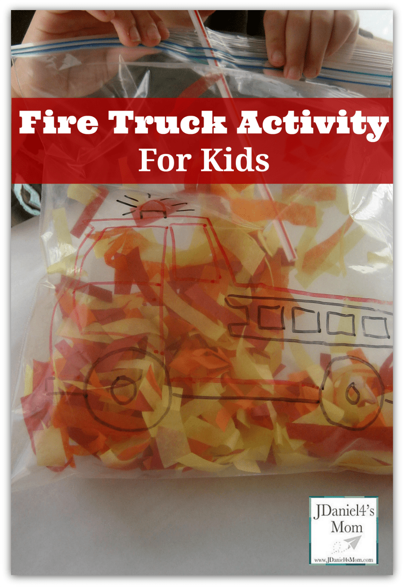 This is a fire truck activity for kids. It would be great