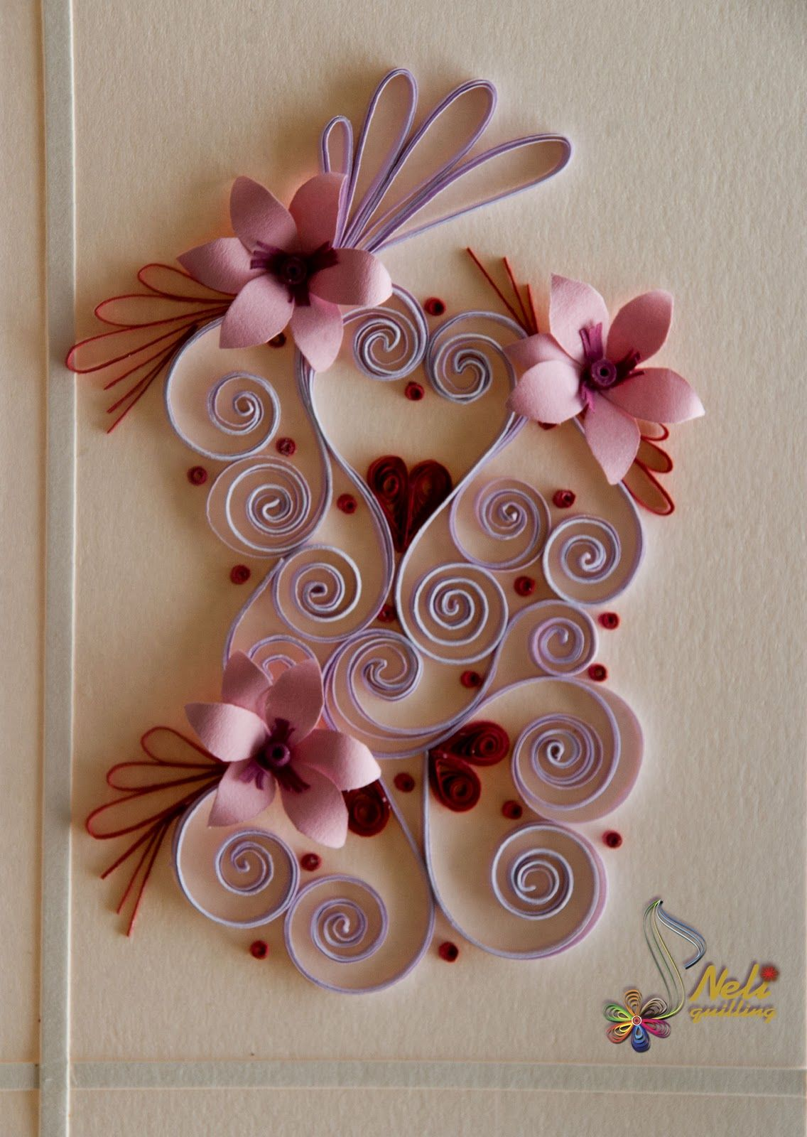 Quilling Card Happy Hearts Day / Neli Quilling Paper