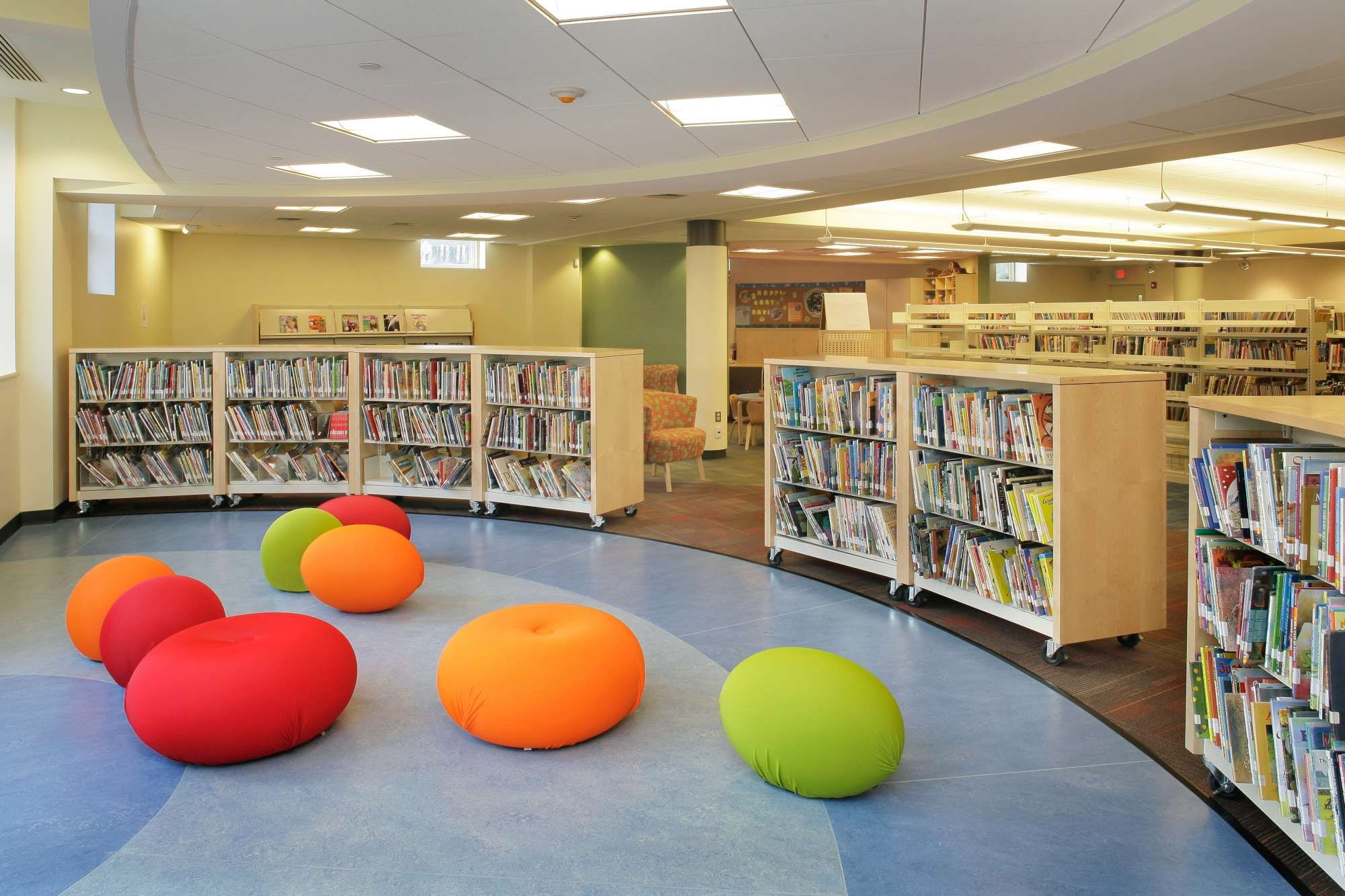 Inside the Children's Story Space at Westerly Library