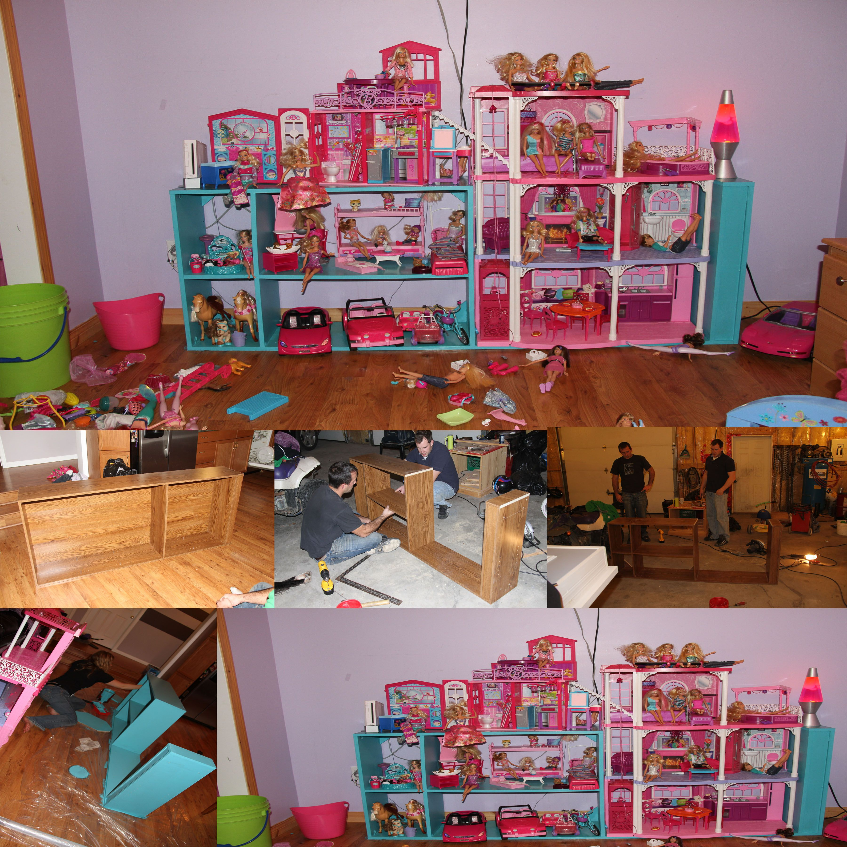 DIY BARBIE STORAGE/PLAY STRUCTURE. For the Home