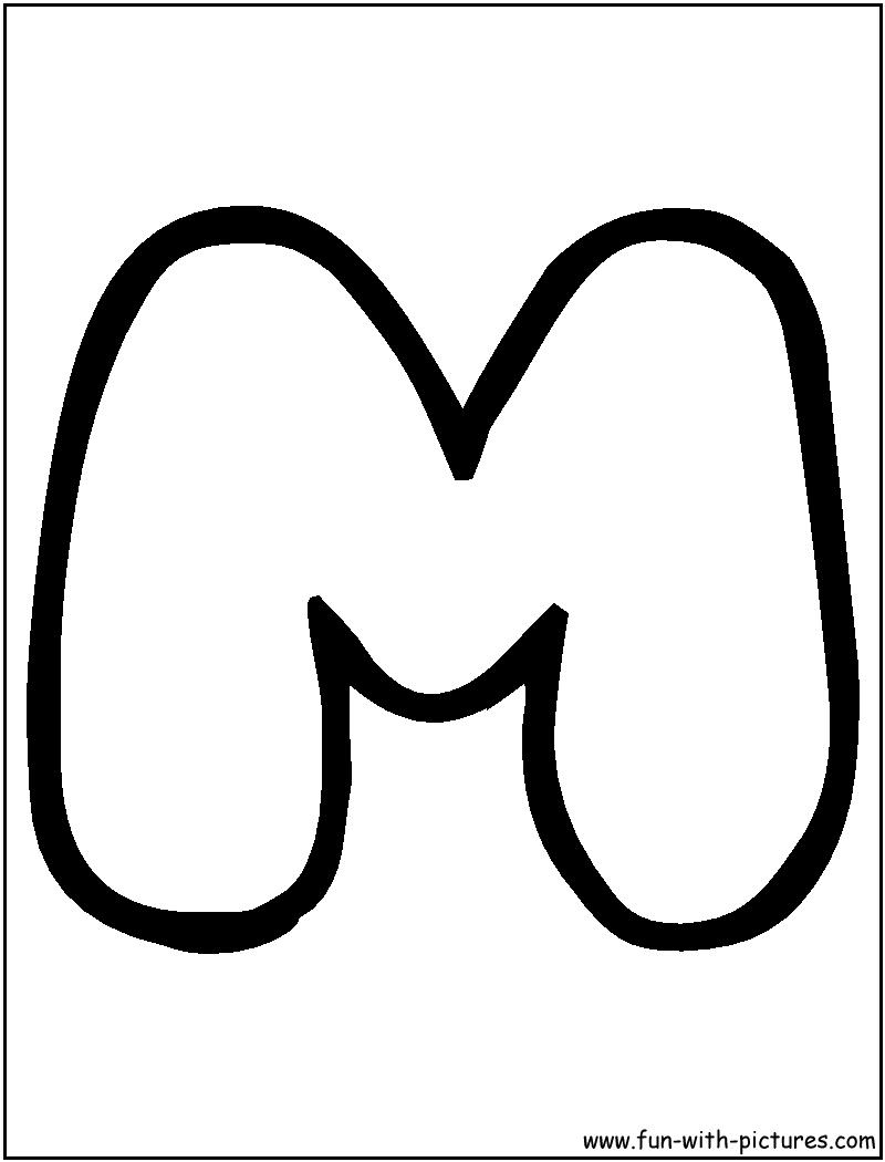 Letter M Bubble Writing