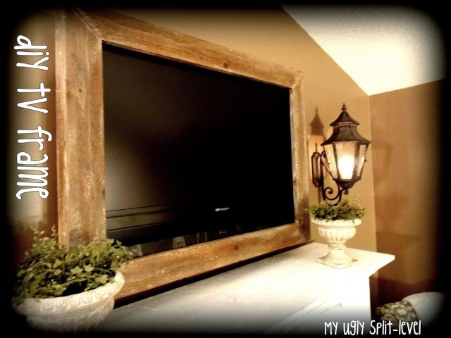 My Ugly Split level DIY Barn Wood TV Frame DIY Home