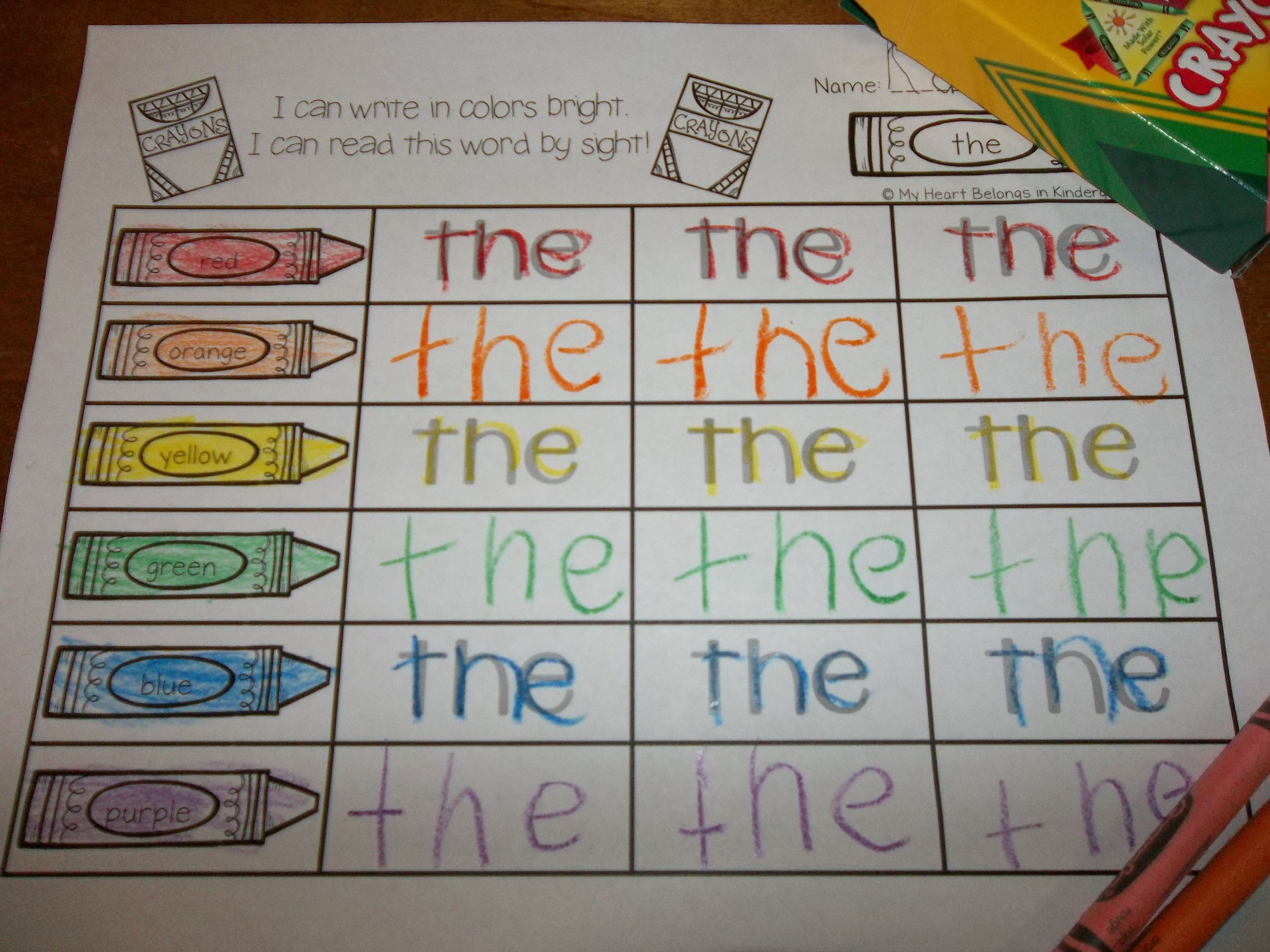 Journey Into Reading With Rainbow Writing 88 Sight Words