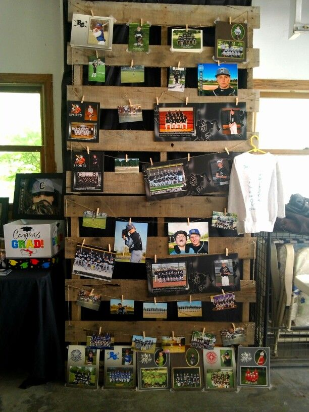 Graduation Decorating Diy With Pallets And Photos Party