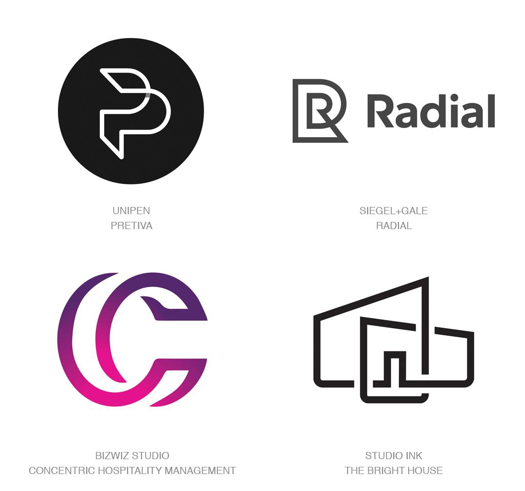 Logo Design Trends 2017 Doubles Logo Pinterest