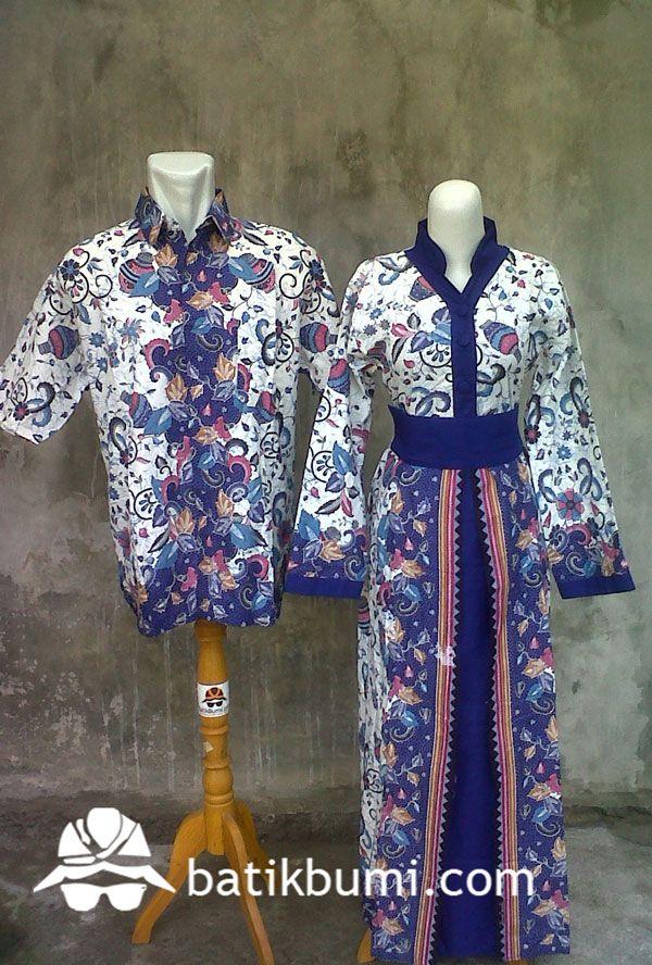 Batik sarimbit dengan bahan katun dengan motif didominasi