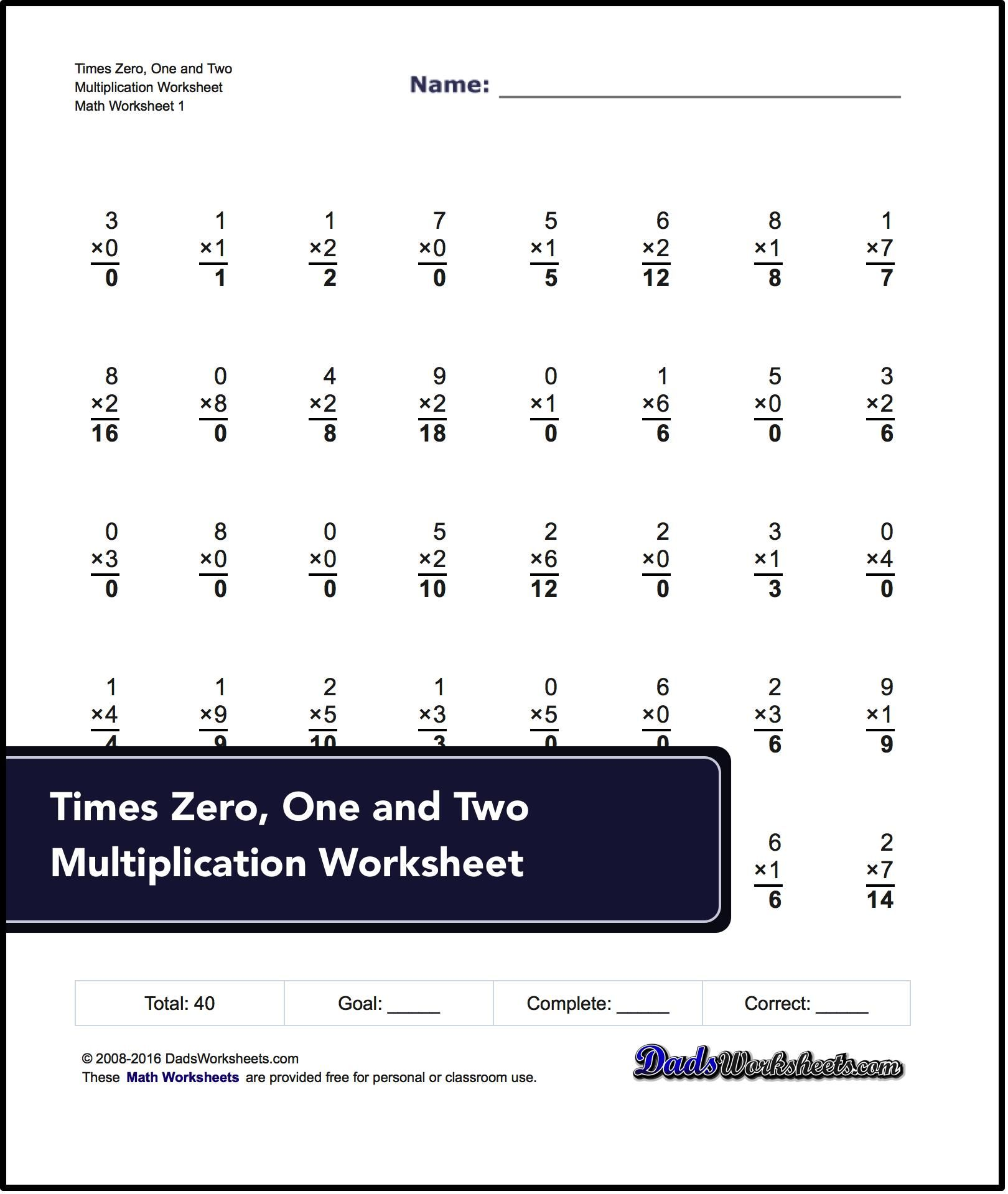 Conventional Times Table Math Worksheets These Multiplication Worksheets Introduce Math Facts