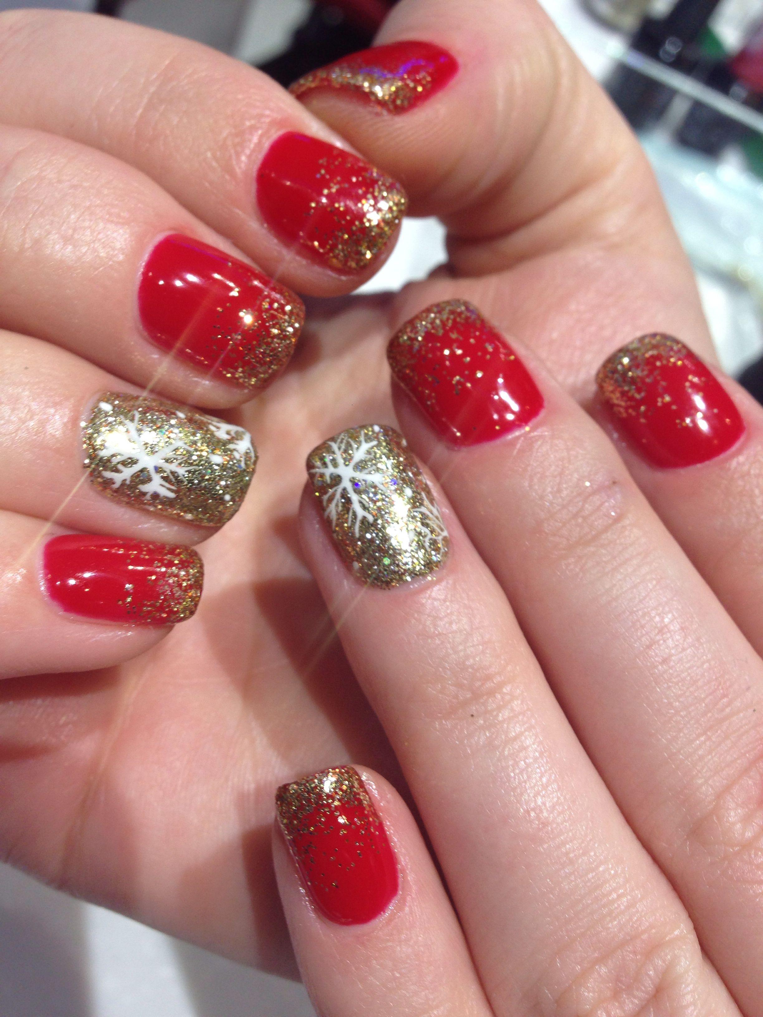 Nails !!! Christmas nails , holiday nails , no chip