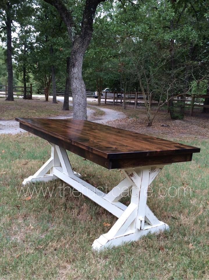 Knotty Alder Farm Table Country decor Pinterest