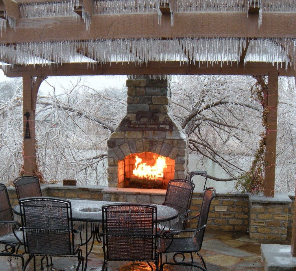 Drawn To This Fireplace In Winter