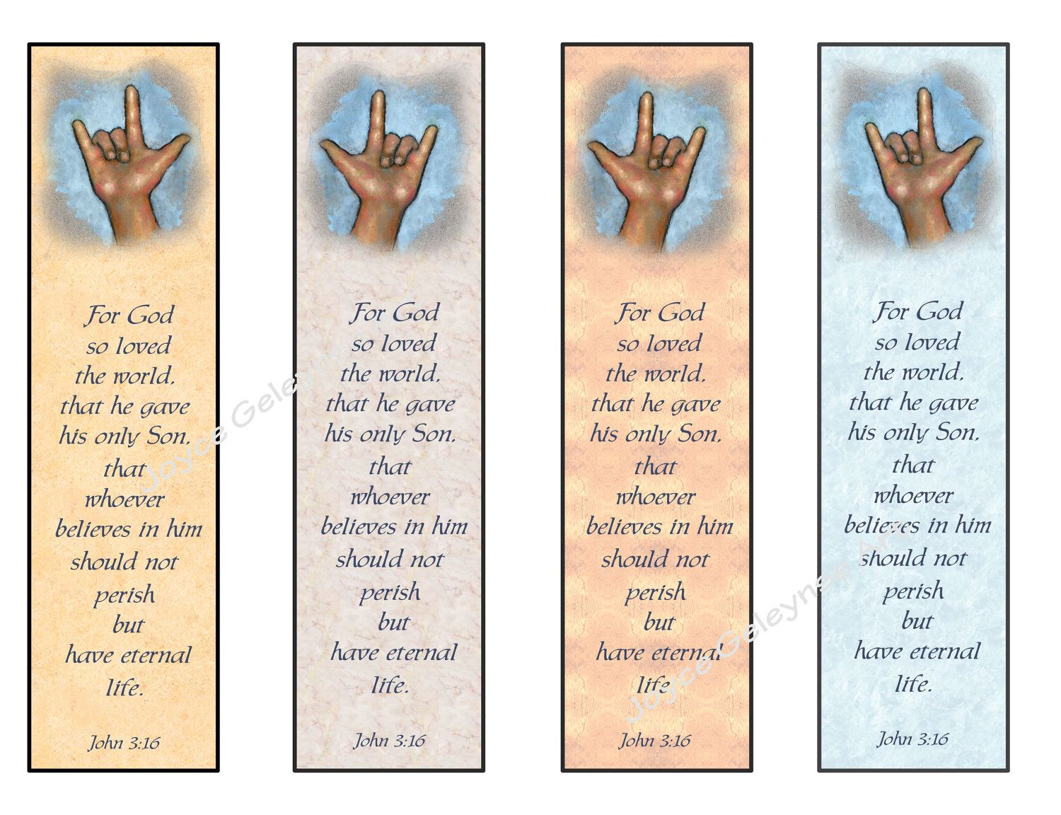 Instant Printable Bookmarks Love Sign Language Bible