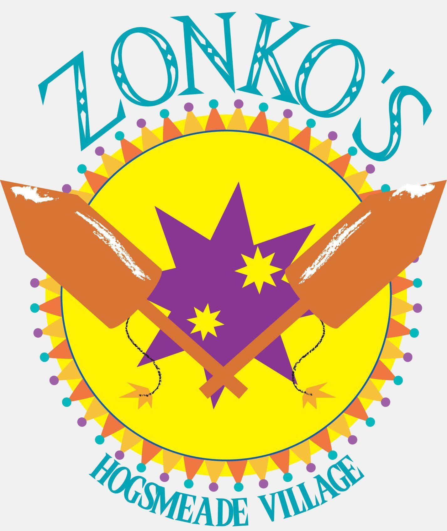 Zonko's Joke Shop Logo white by opaleyes HP_Hogsmeade