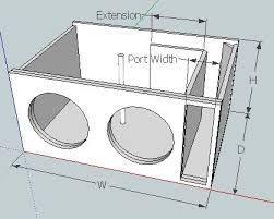 Image Result For Subwoofer Box Design 12 Inch