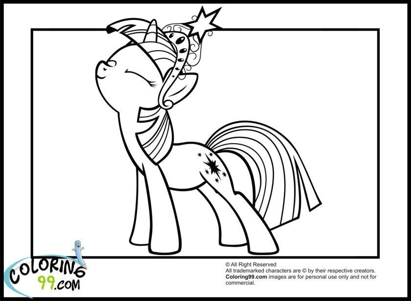 little pony twilight sparkle coloring pages  colorine