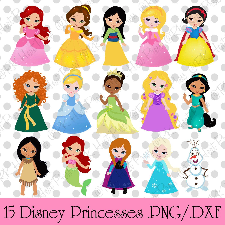 Disney Inspired Cute Princess Cut Files .png .dxf .svg