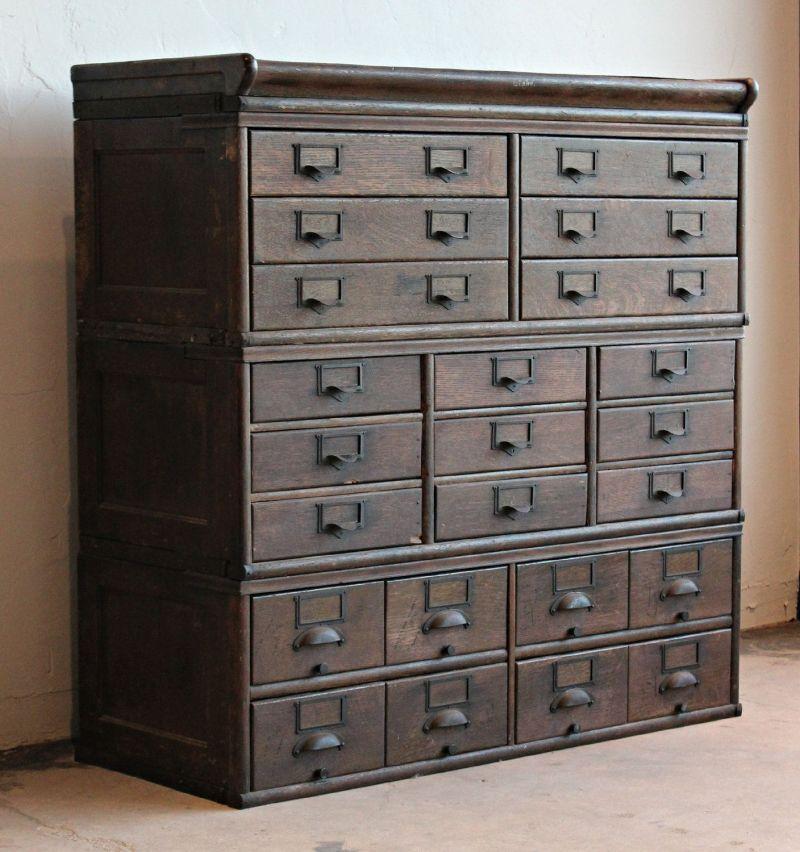Antique wooden 23 drawer storage home lilys