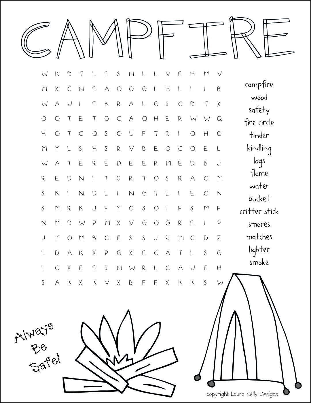 How To Build A Campfire Girl Scout Print Out