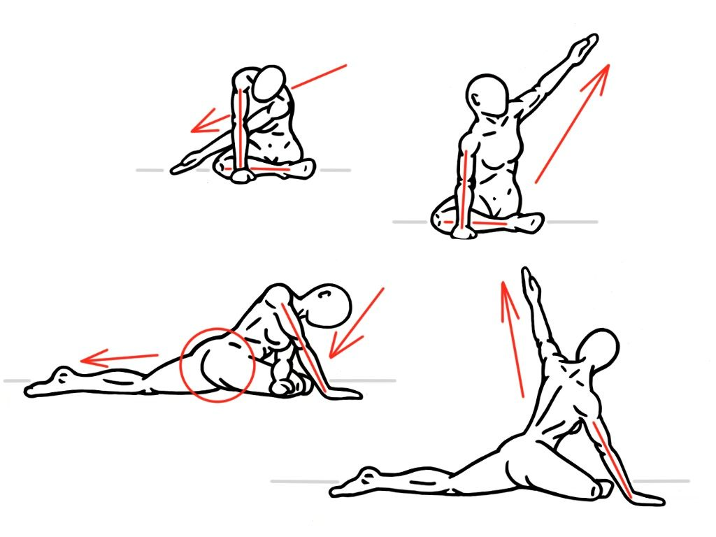 Pigeon Pose With Contralateral Reach For Hip Mobility This