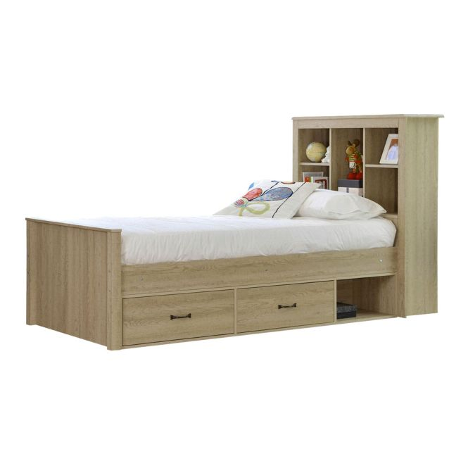 Sonoma Oak King Single Bed Deluxe Mattress By Vic Furniture Get It Now Or
