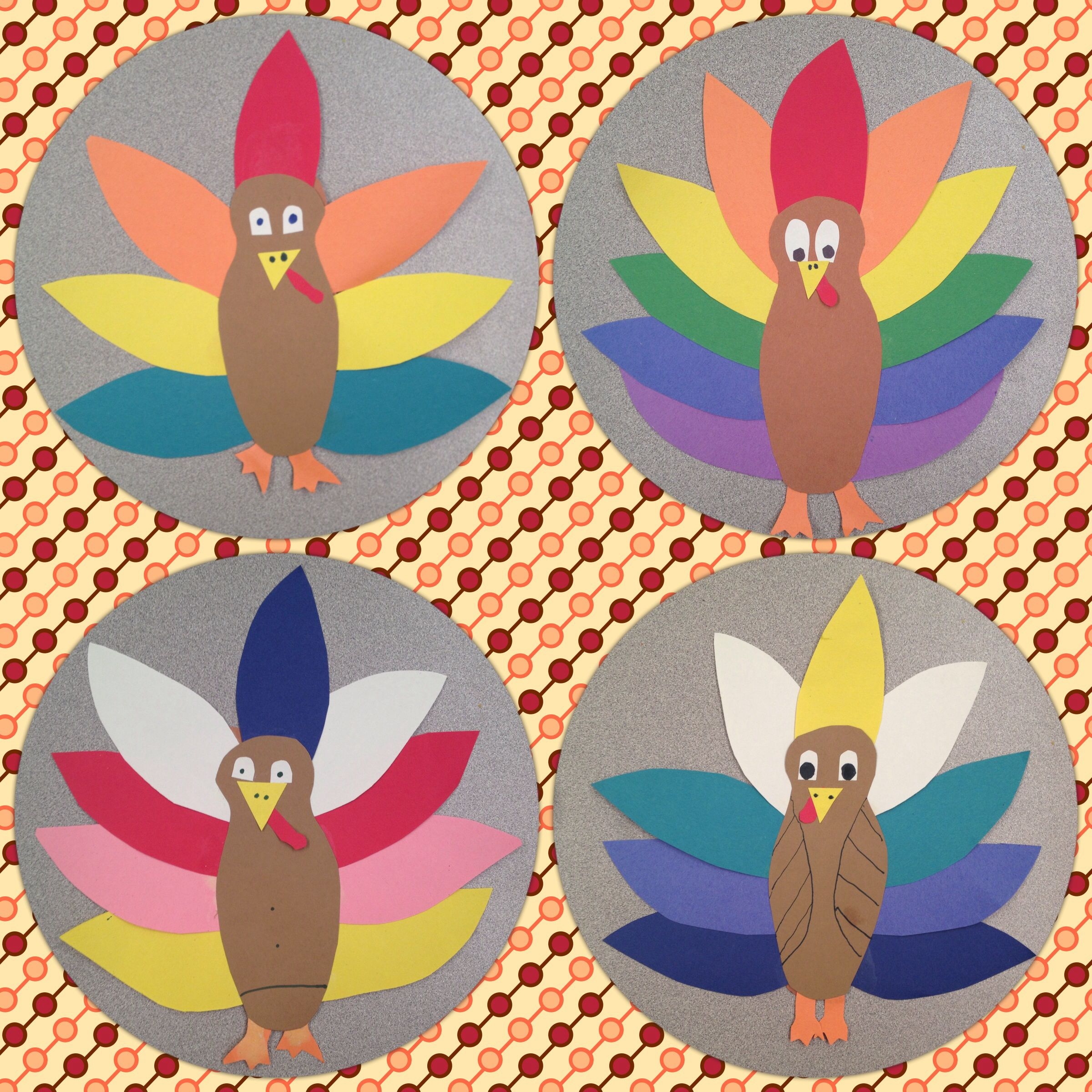 Thanksgiving turkey art lesson project special education