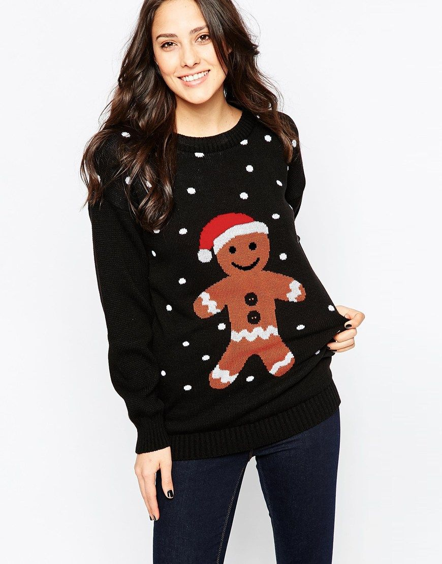 Club L Gingerbread Man Christmas Jumper Bohemian Style