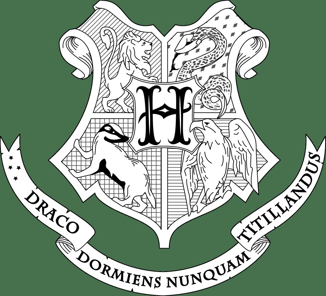 Hogwarts Crest Coloring Page Harry Potter Pinterest