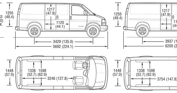chevy cargo van interior dimensions