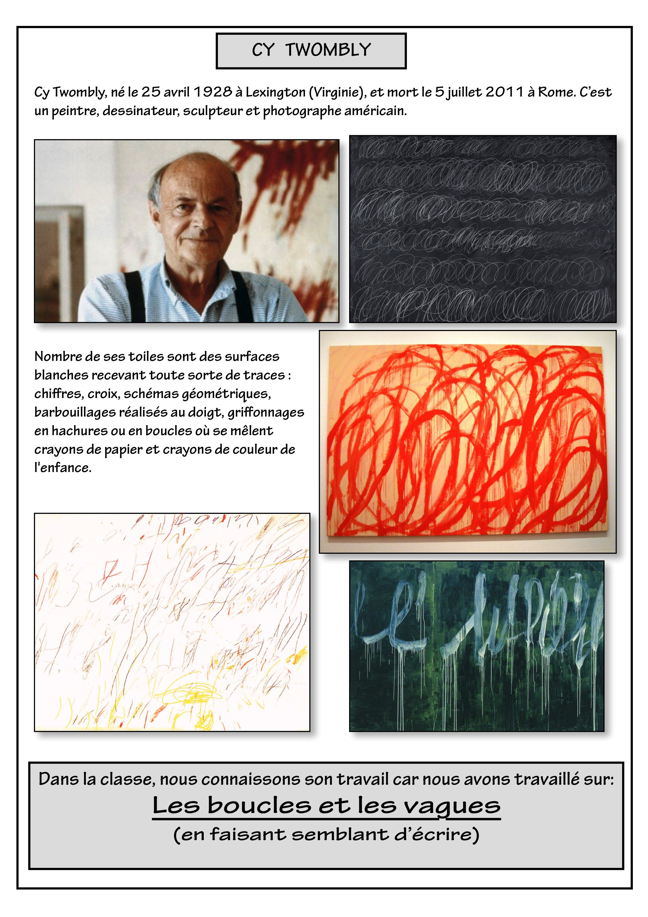 Fiche Cy Twombly