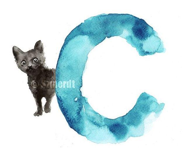 Black Cat Minimalist Painting Kids Nursery Room By Colorwatercolor Black Cat Watercolor