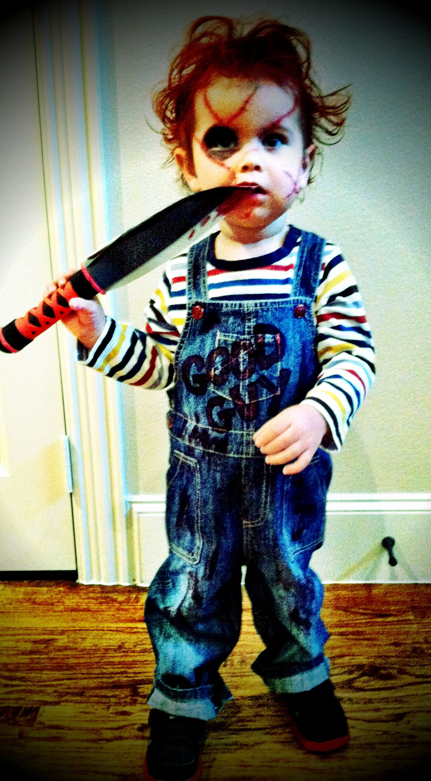 toddler Chucky costume 2012 I can't believe Brad wants