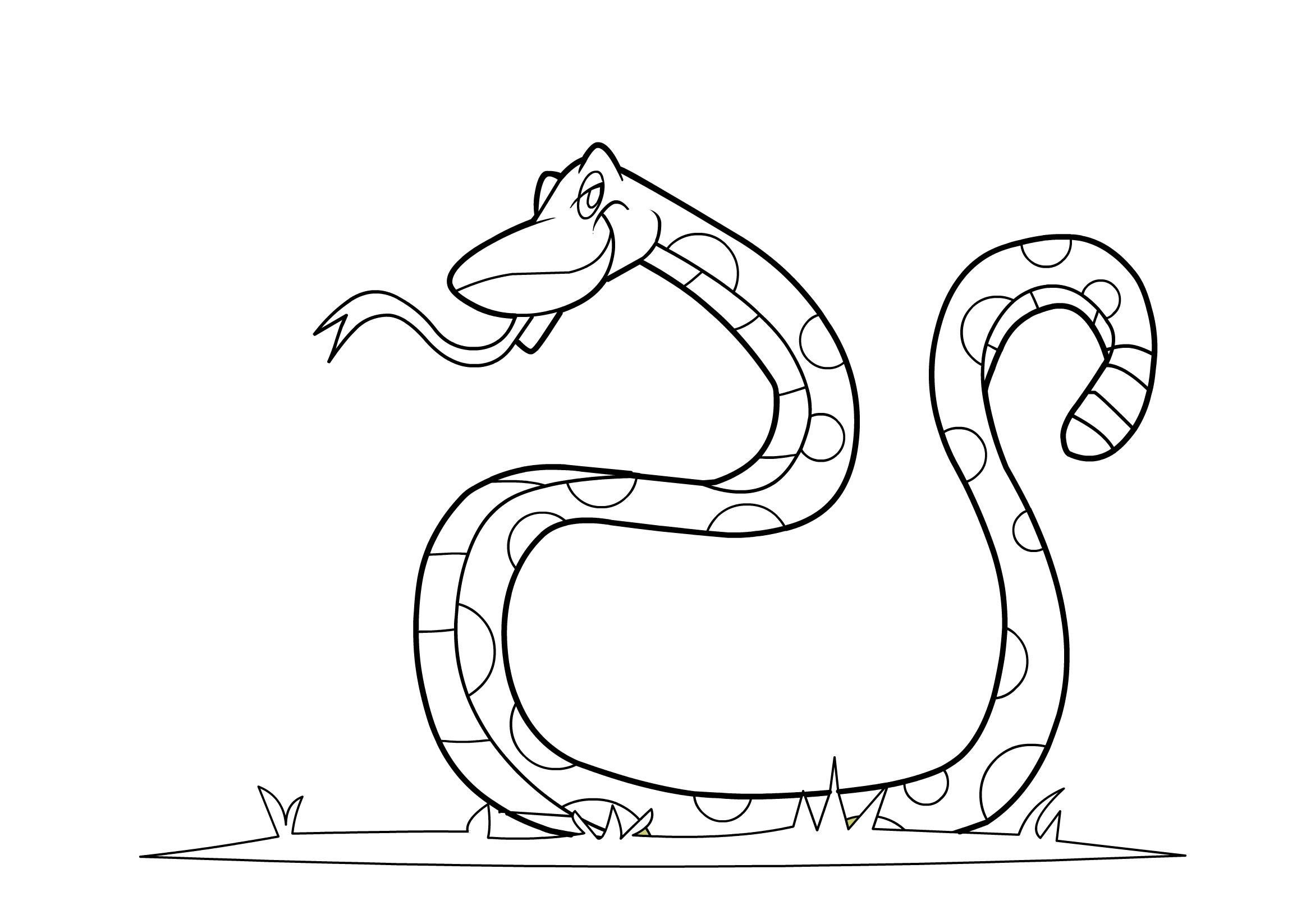 Free Printable Coloring Page Snake