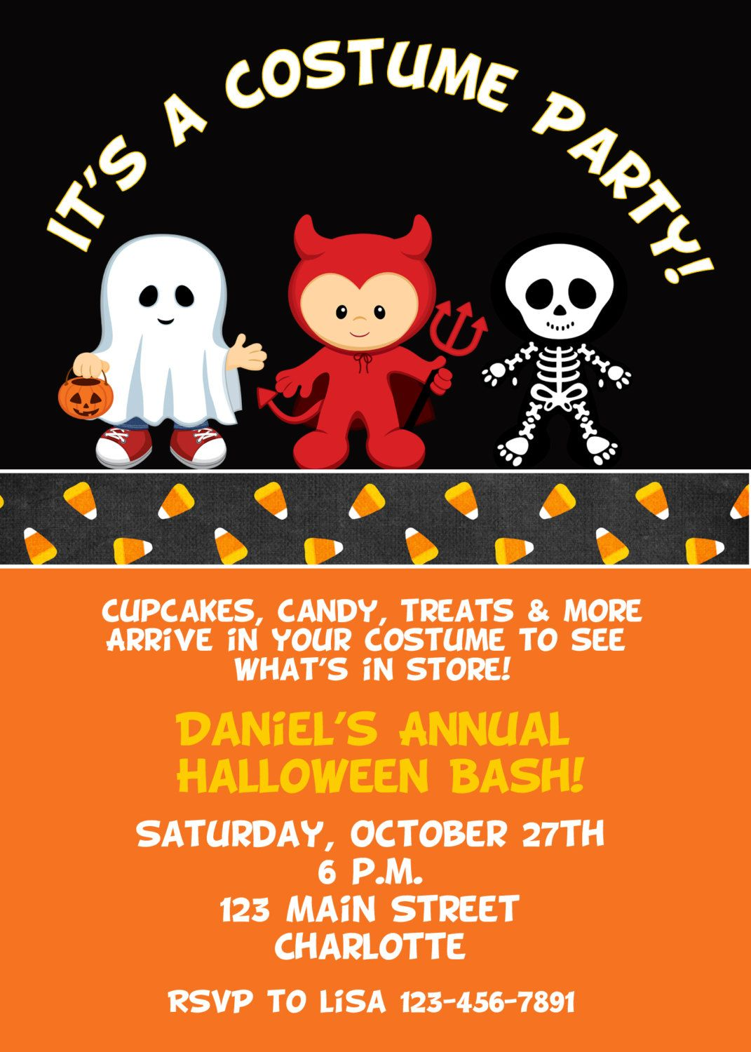 Halloween costume party invitation Halloween costume