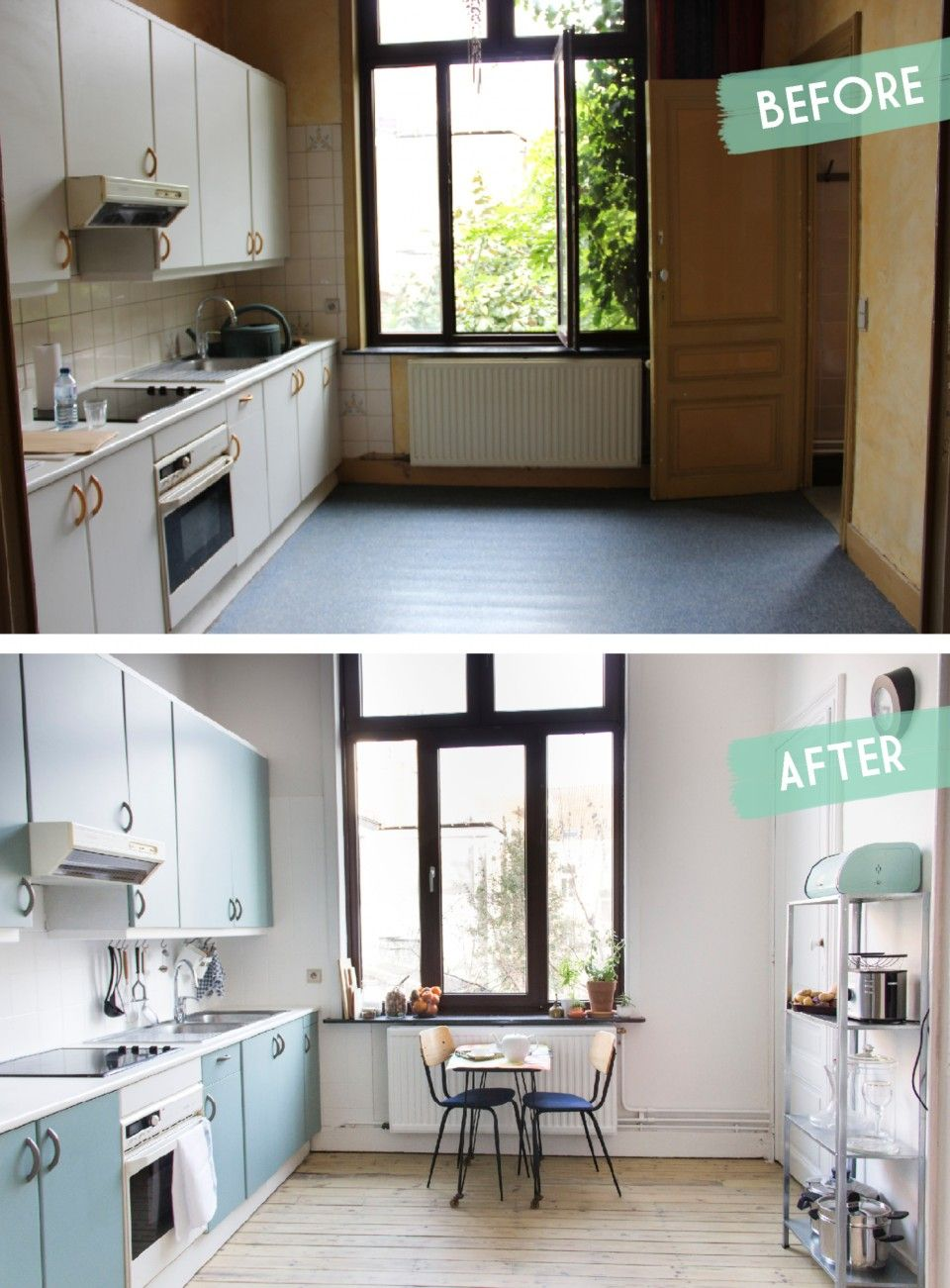 Kitchen Makeover Before After Une Cuisine Avant