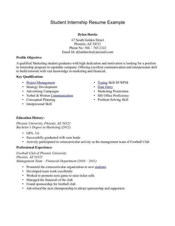 sample student resume for internship letter sponsorship undergraduate - Resume Undergraduate Student Internship