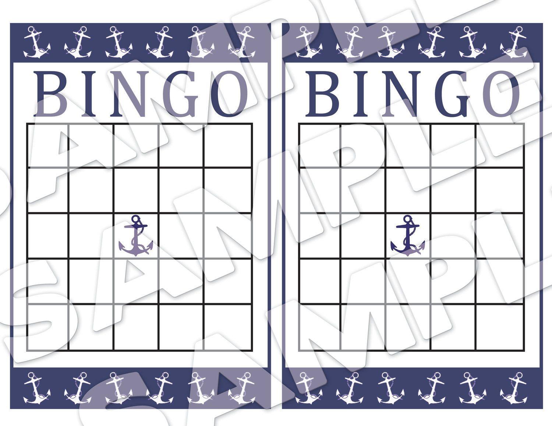 Nautical Themed Baby Shower Bingo Cards Diy