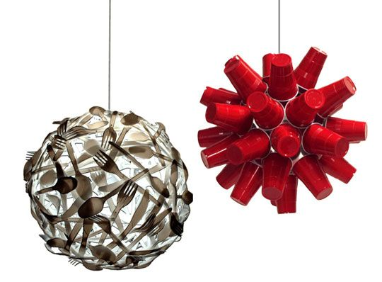 Gluttony Hangover Lamps By Luis Luna Recycled Lamprepurposedred Solo Cuphandmade
