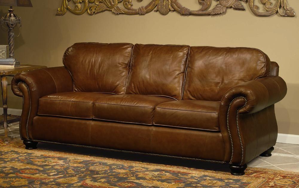 Vincent Leather Sofa By Bernhardt Woodleys Fine