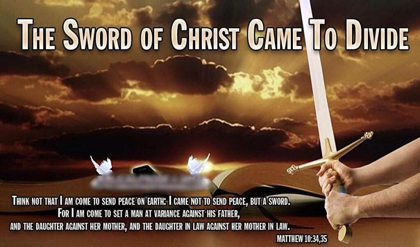 Image result for matthew 10:34