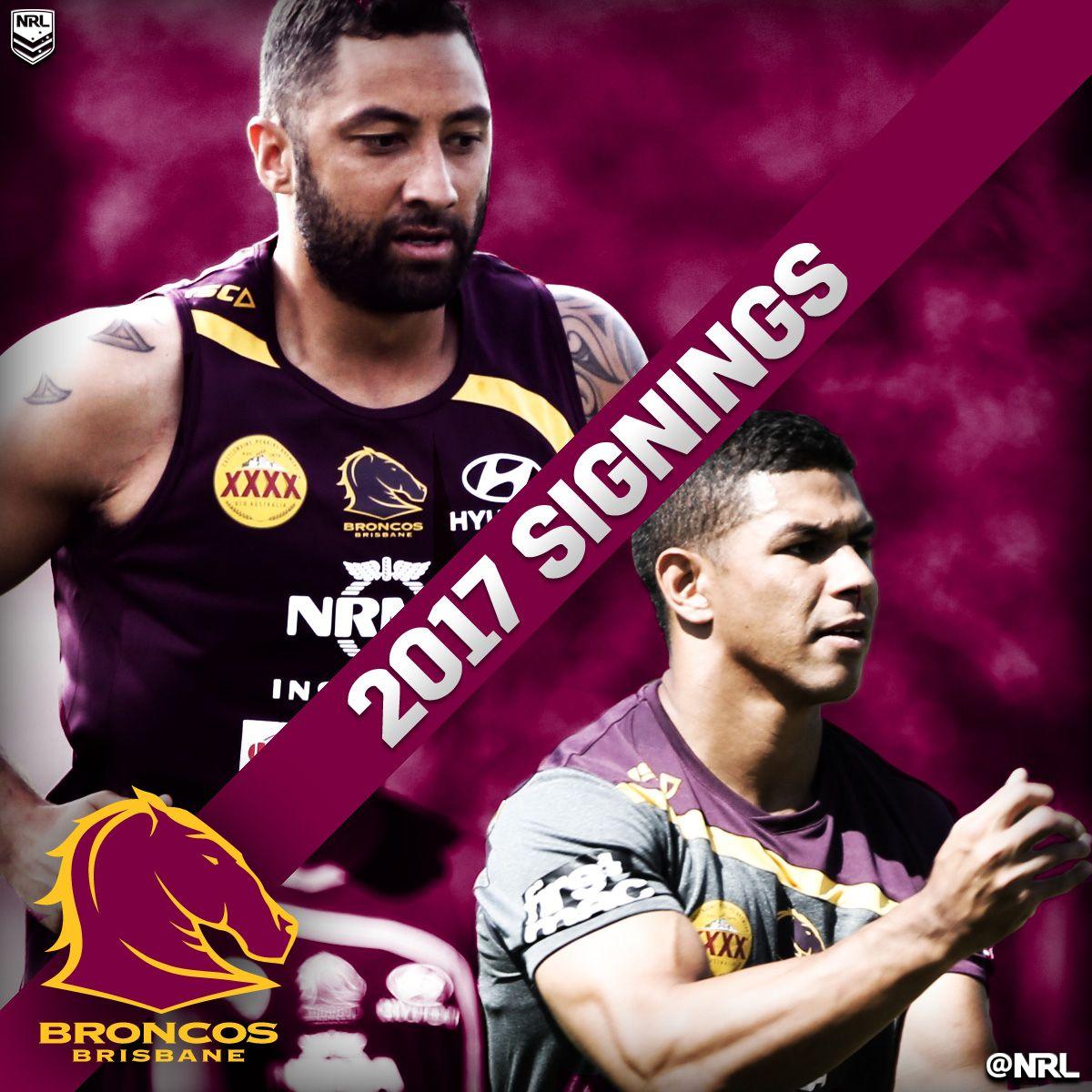 2017 Brisbane Broncos NRLRecruits. NRL 2017 Player