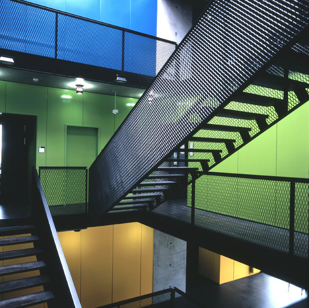 Expanded Metal Staircase Outdoor Courtyard Design