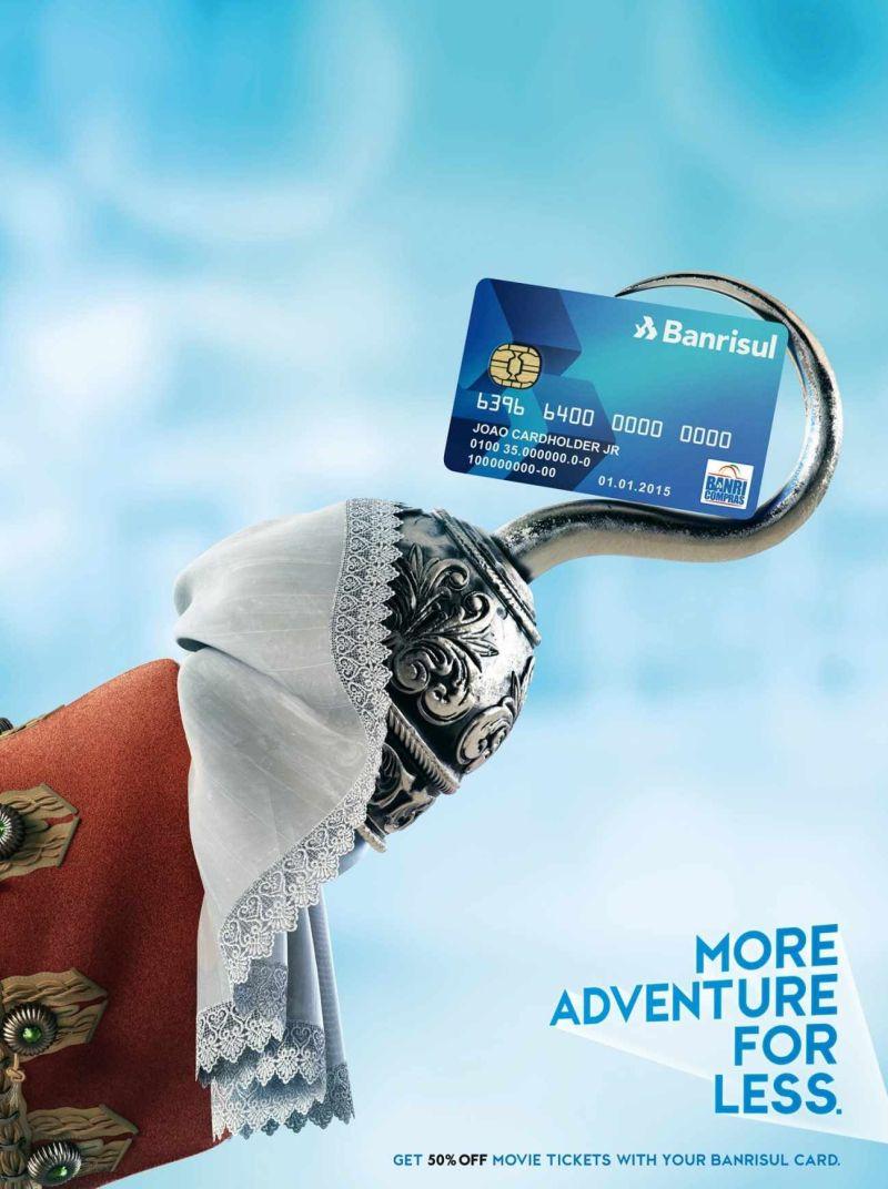 Banrisul credit card adventure advertising pinterest