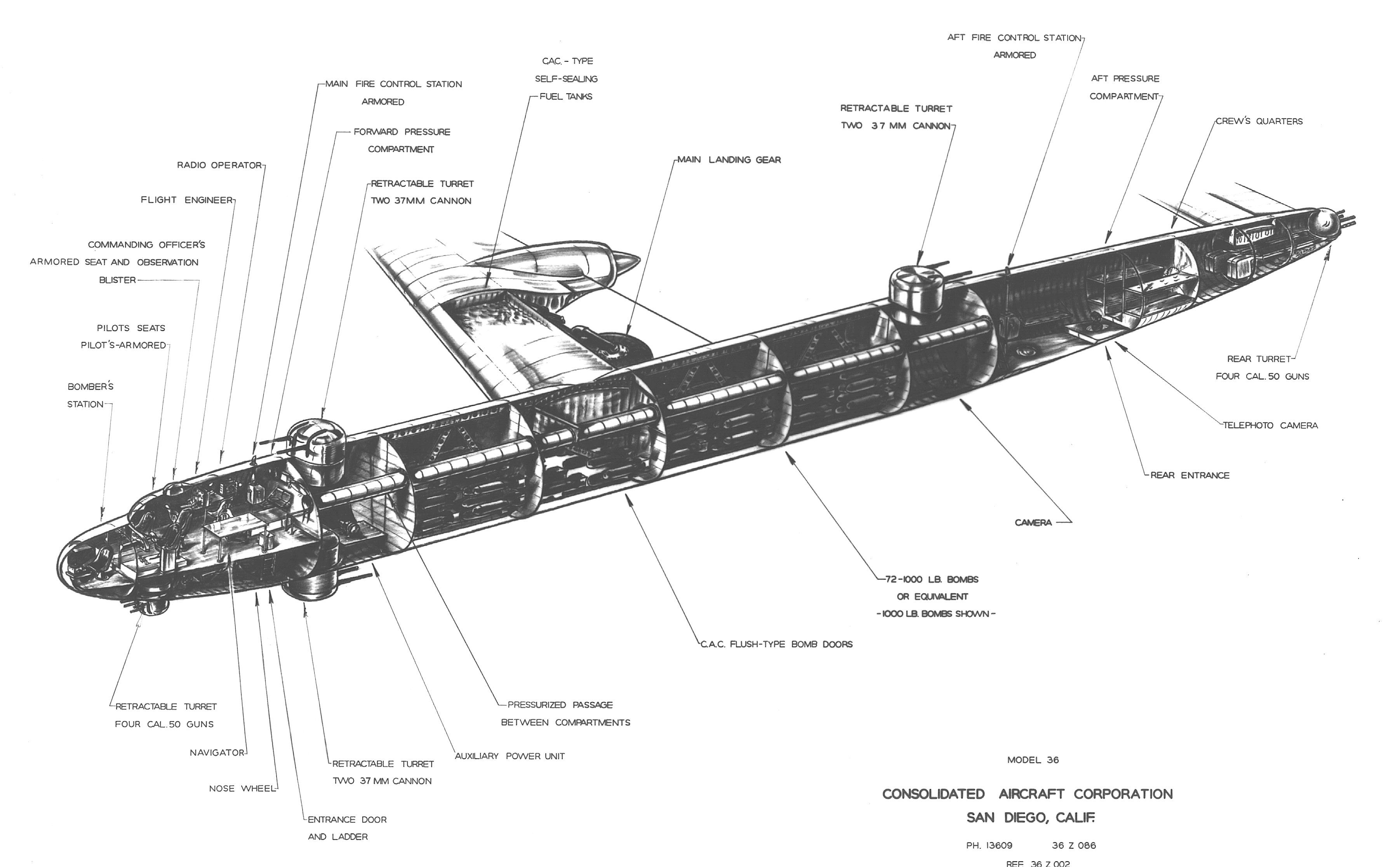 Early B 36 Peacemaker Cutaway The B 29 Lineage Is Very