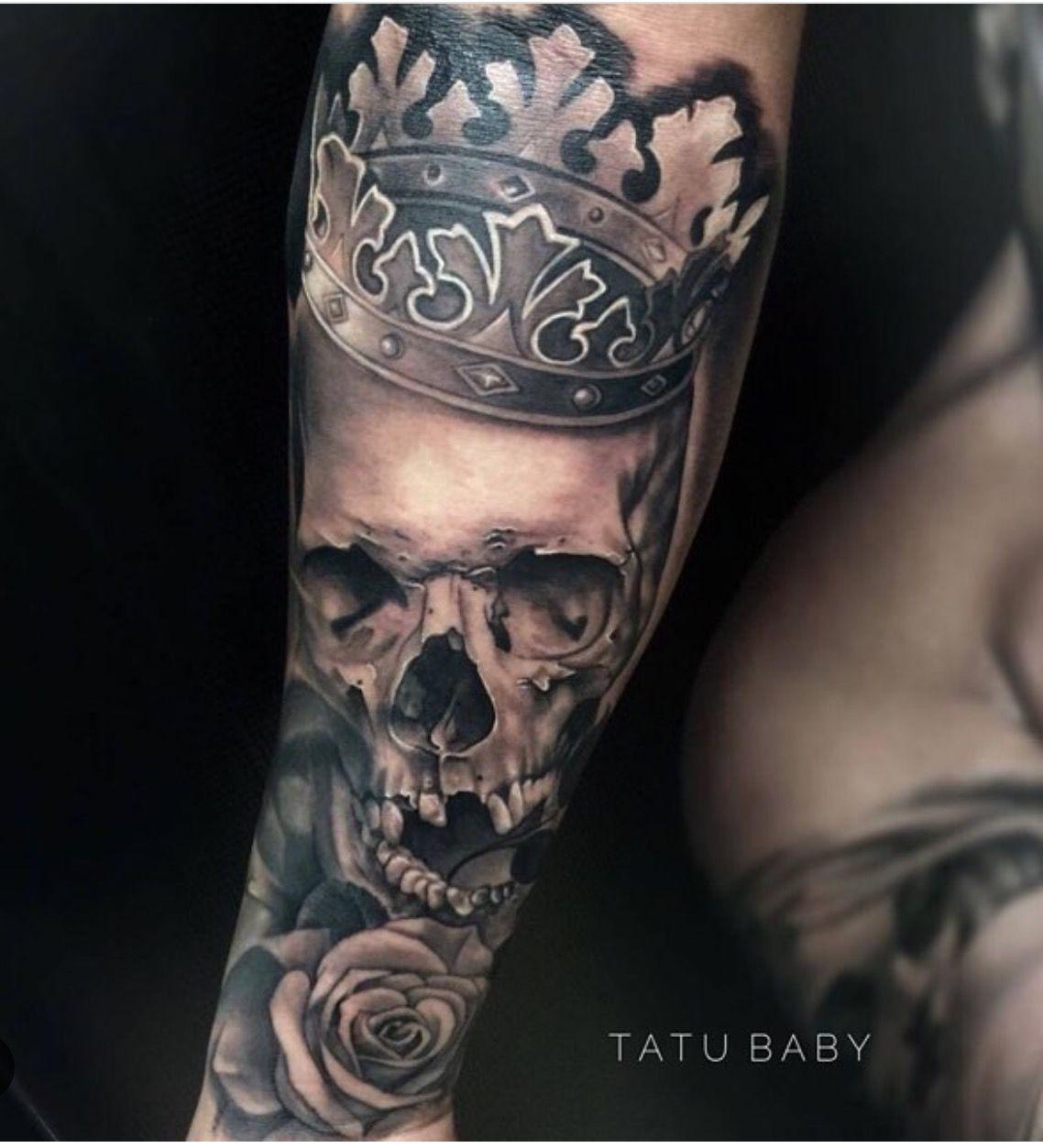 Skull king Tattoo by Tatu Baby Email TatuBabyTattooGmail