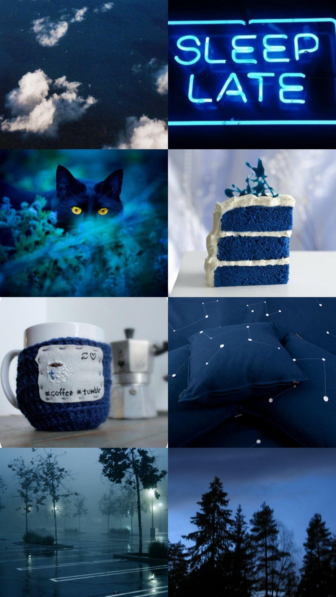 scorpio aesthetic blue caring, loving, sensitive