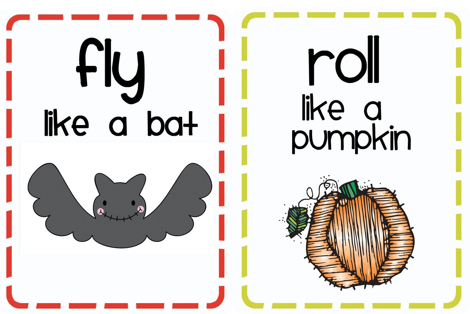 Download This H Is For Halloween Booklet And On Pages 31 33 Are 8 Halloween Movement Cards